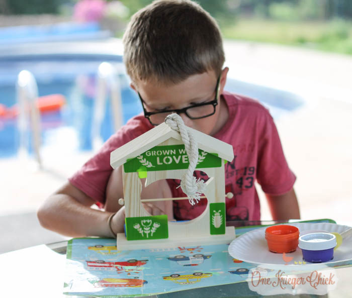 Fruit Slice Bird Feeder- Fun Summer crafting with kids with We Made It- OneKriegerChick.com 4