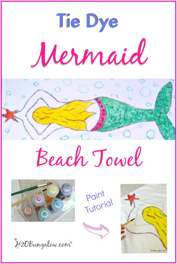 Tie-dye-paint-technique-mermaid-beach-towel-by-H2OBungalow