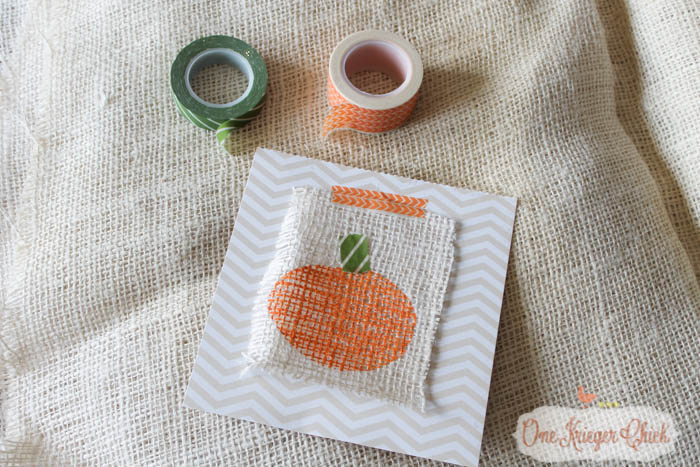 Kids Stamping Craft turned into Pumpkin Print Art- Fun kid-made Fall decor!-4- OneKriegerChick