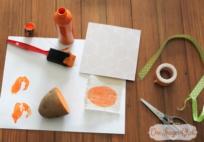 Kids Stamping Craft turned into Pumpkin Print Art- Fun kid-made Fall decor!-6- OneKriegerChick