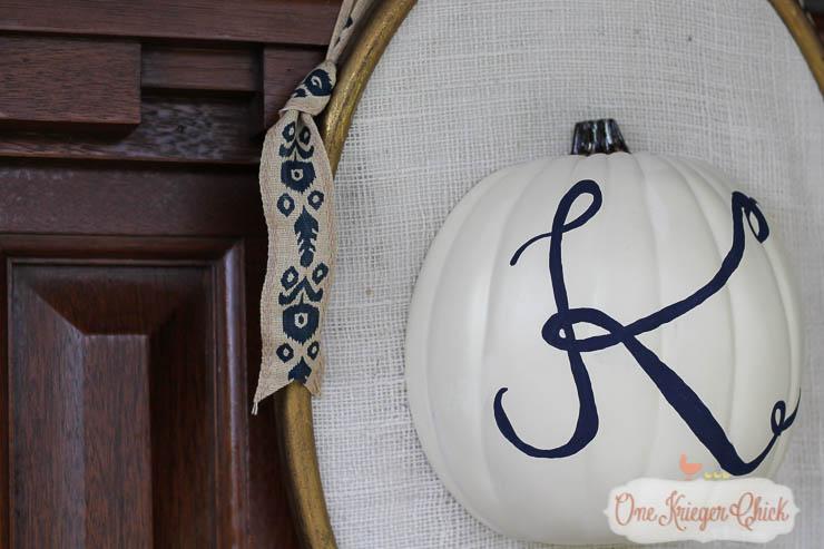Monogram Pumpkin Door Decor-5-OneKriegerChick