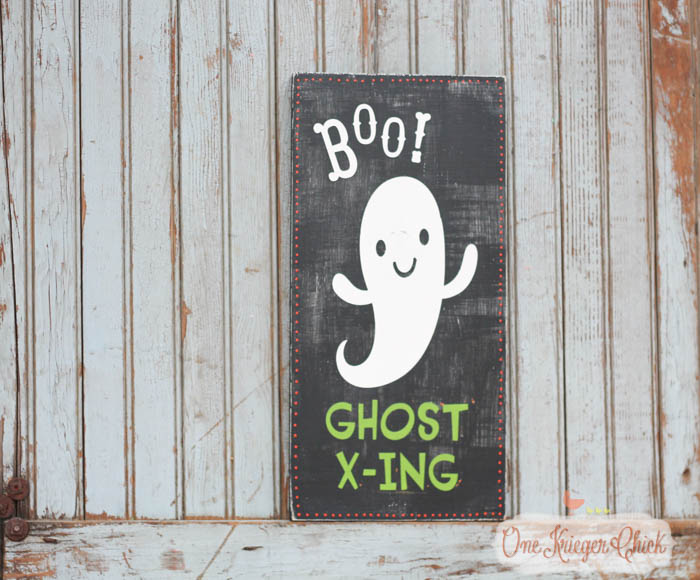 Pottery Barn Inspired Halloween sign- made in 15 minutes!10- OneKriegerChick