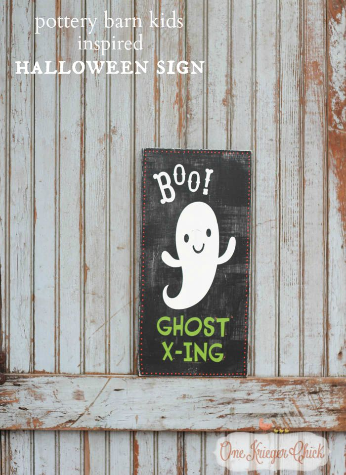 Pottery Barn Kids Inspired Halloween sign- made in 15 minutes!9- OneKriegerChick
