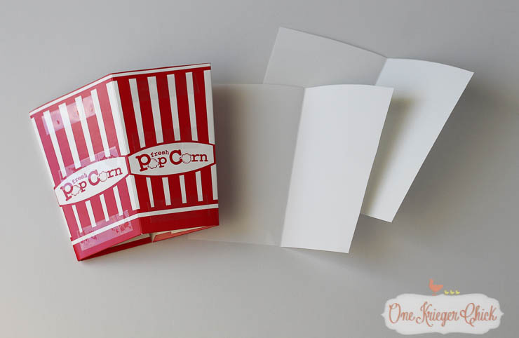 How to make your own Candy Corn Popcorn Box-2- OneKriegerChick