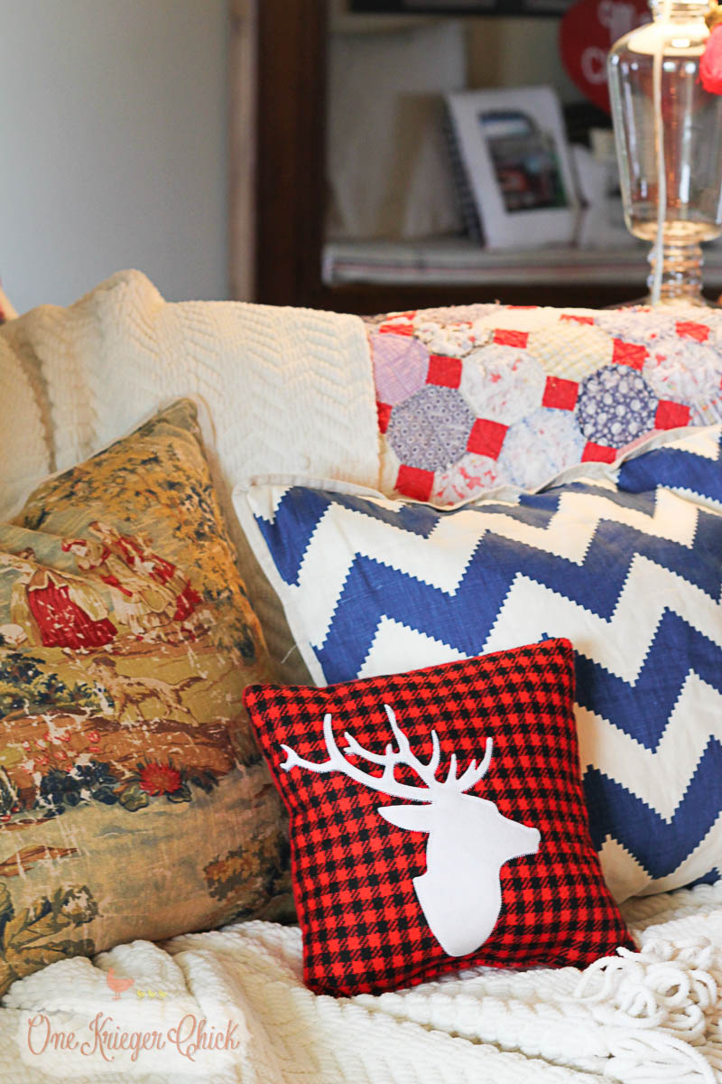 Can never have too many pillows- OneKriegerChick.com Holiday Home Tour