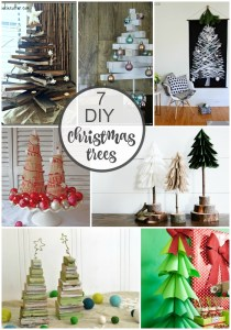 7 DIY Christmas Trees ideas to make today! Love these non-traditional ideas!