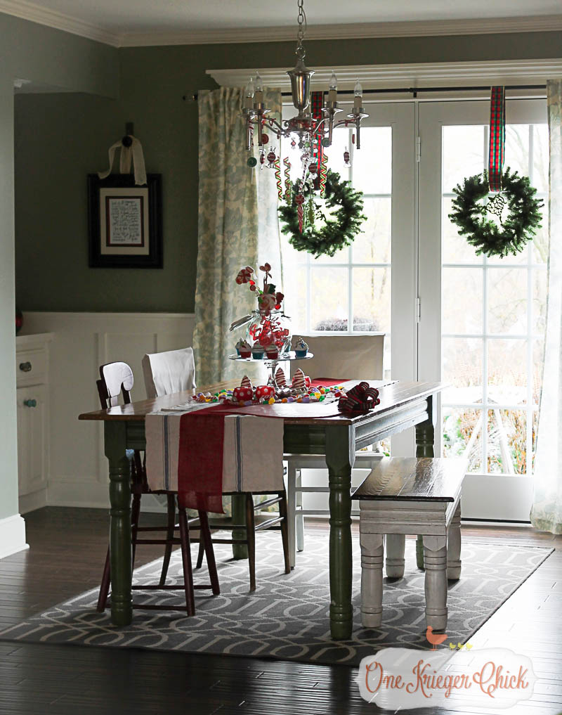 Christmas Dining Room 2015-OneKriegerChick Holiday Home Tour