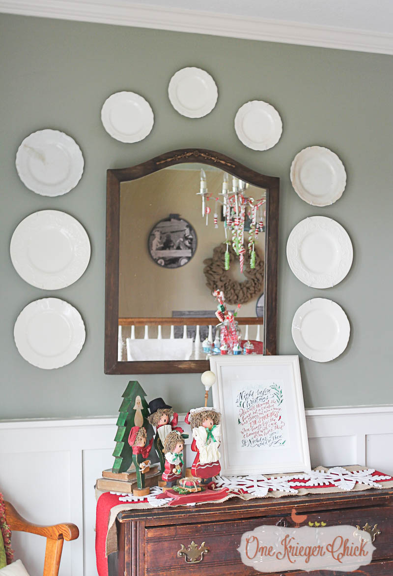 Dining Room-Vintage Carolers- OneKriegerChick Home Tour