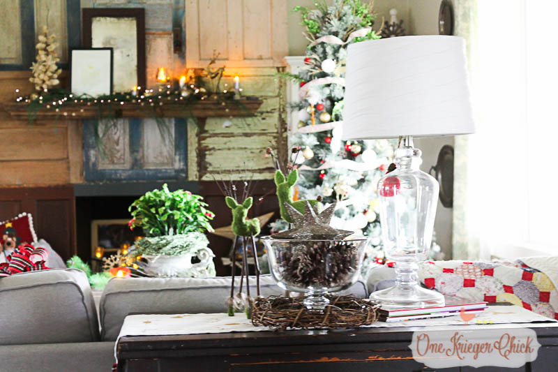 Holiday Living Room 2015-OneKriegerChick Home Tour