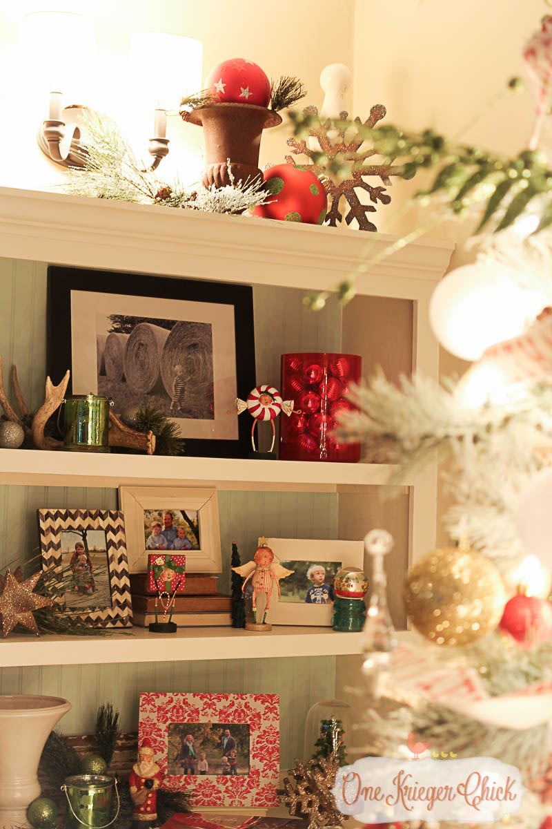 Living Room Bookcases 2015-OneKriegerChick Holiday Home Tour