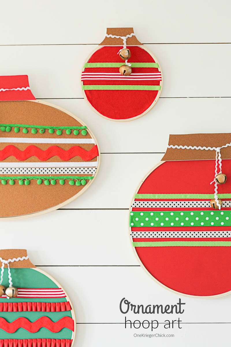 Ornament Hoop Art- How to make your own-Such fun holiday decor!-feature-OneKriegerChick.com