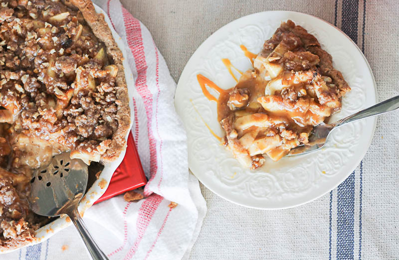 Sour Cream Caramel Apple Pie- The most delicious bite you will eat all season!33 OneKriegerChick.com