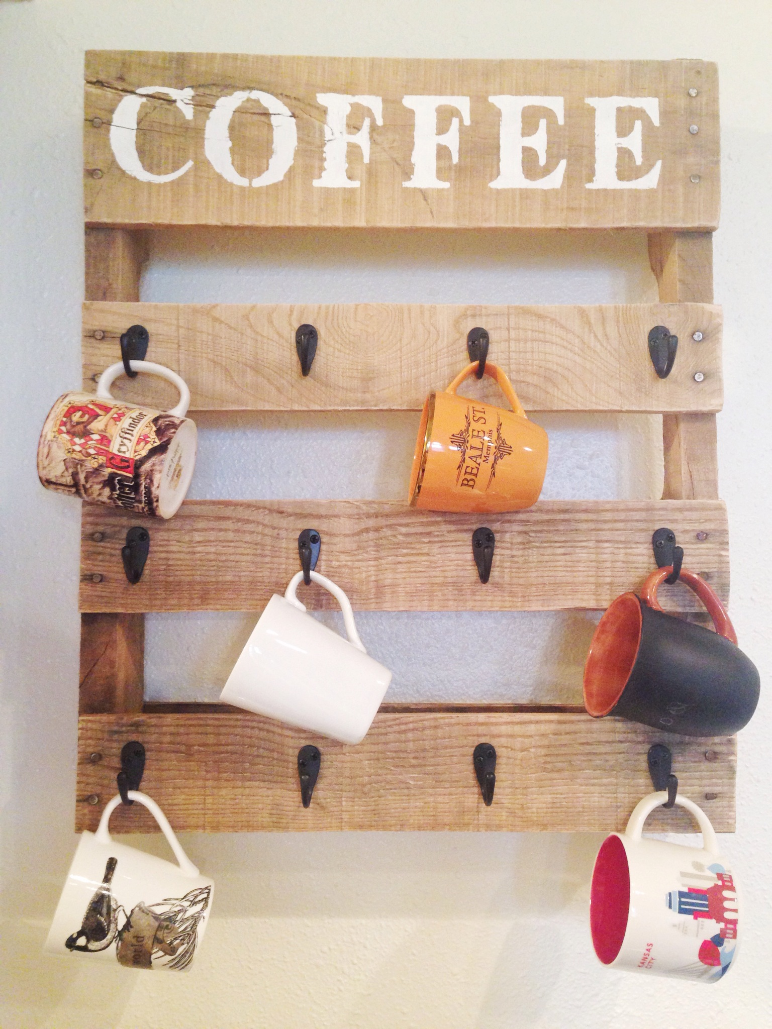 Pallet Coffee Cup Holder One Little Bird Blog