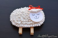 Q-Tip Lamb Craft