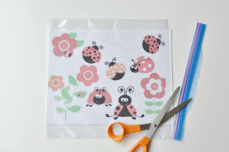 DIY Ladybug Window Clings