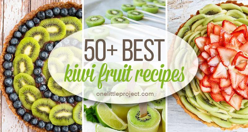 50 Best Kiwi Recipes Kiwi Fruit Round Up