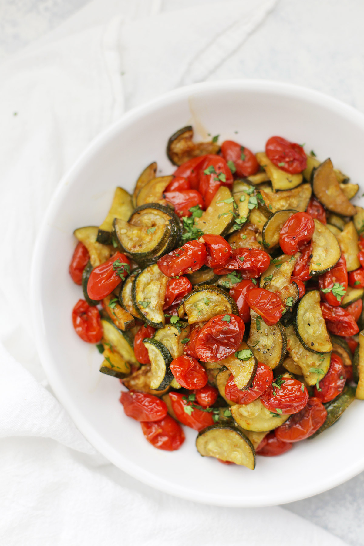 Simply Roasted Zucchini And Tomatoes One Lovely Life
