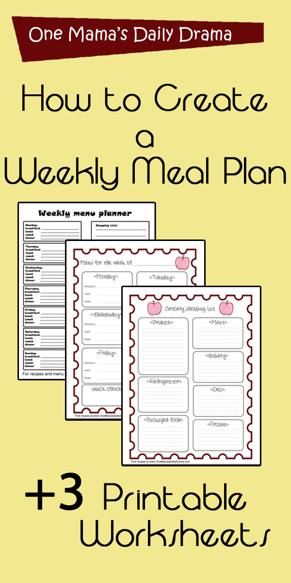 How to create a weekly meal plan
