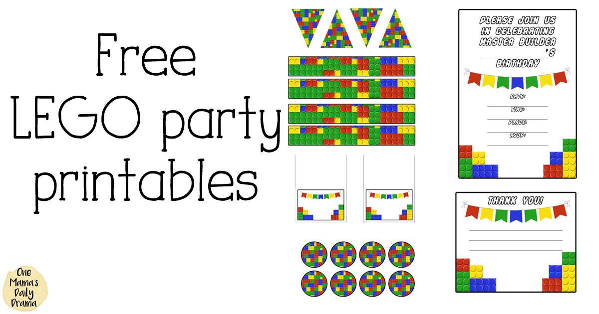 Free LEGO party printables for kids birthdays