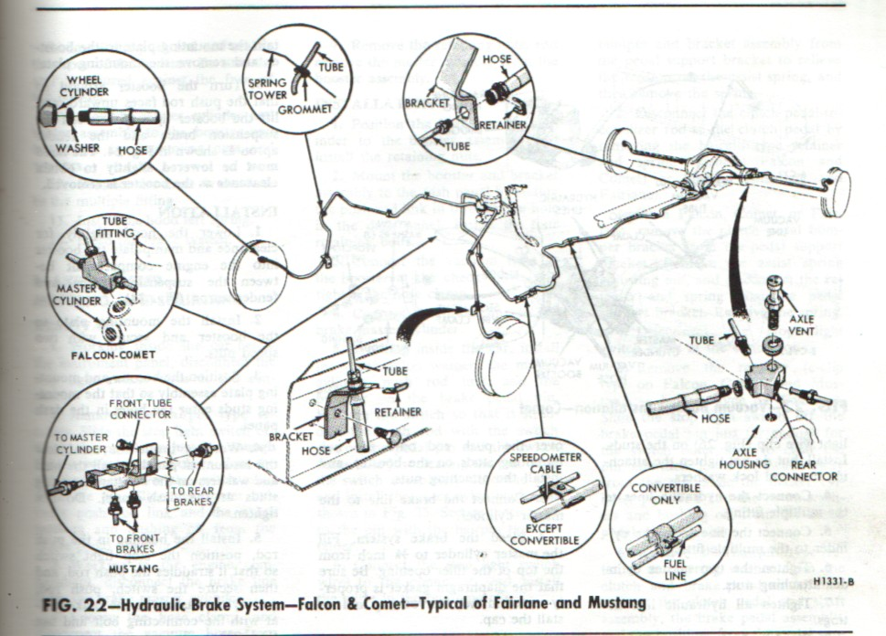 Front  Rear Brake Diagrams One Man And His Mustang