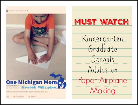 Paper airplane tutorial live by a 6 year old