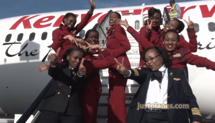 Awesome Cool Car Wallpapers Awesome Video Of All Female Kenya Airways 787 Crew One