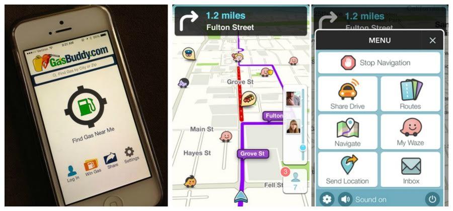 travel apps, gas buddy, car apps