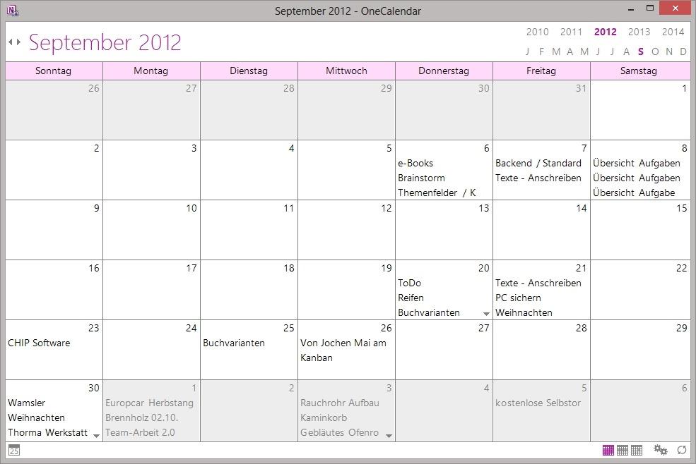 Calendar Template For Onenote 2016   Pocket Calendars Cheap