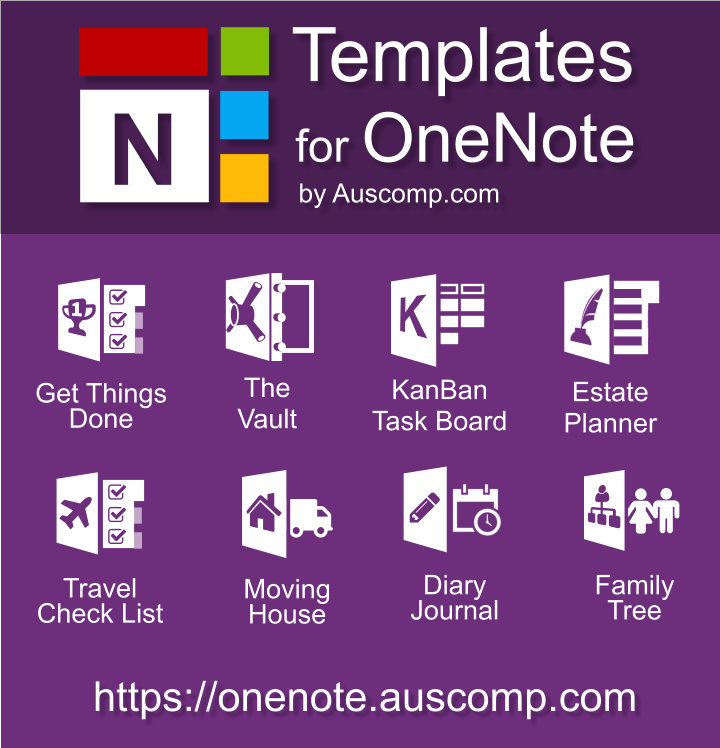 Free templates for #OneNote #GTD (Get Things Done) #Travel - one note templates
