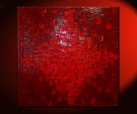 LARGE Red Textured Modern Abstract Painting Urban Original ...