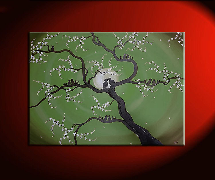 Family Tree Painting Customized Personalized Art Grandparents