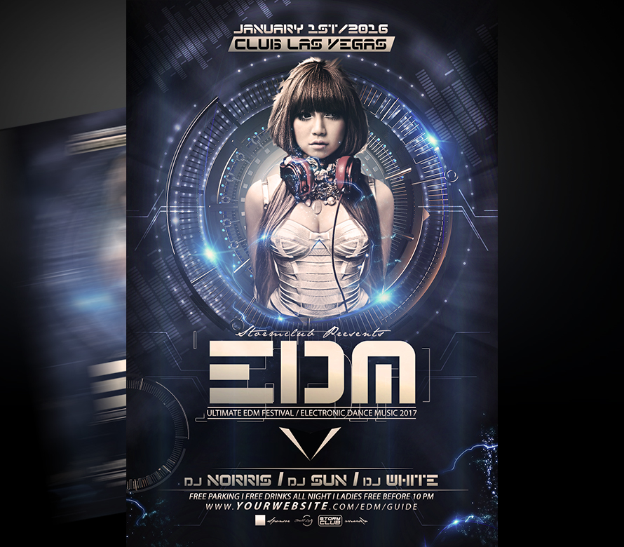EDM DJ Flyer Template I For your Awesome Parties