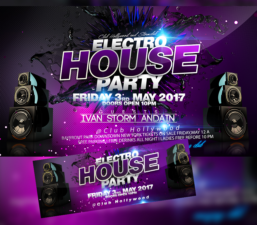 Electro House Party Flyer (Experience) I For your Awesome Parties