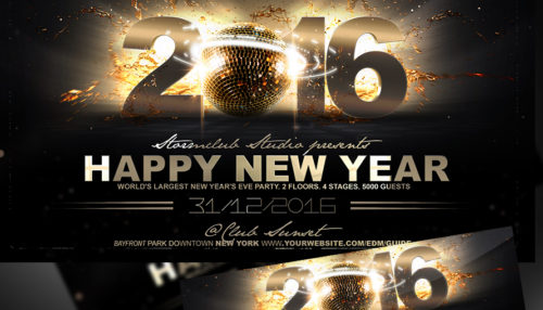 New Year Flyer/ Poster Templates - new year poster template
