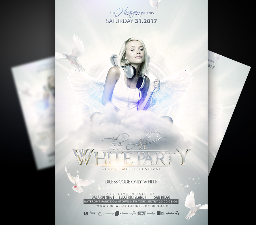 White Party Flyer Template I For your Awesome Parties