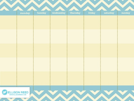 Free Printable Weekly Calendar (she Melissa) - Or so she says