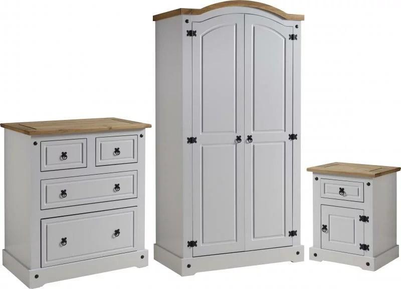 Corona Grey Distressed Pine Bedroom Set One Stop