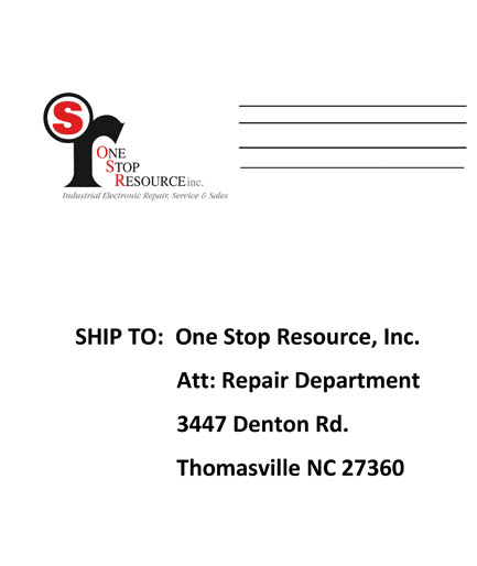 One Stop Resource Packing Slip / Trouble Ticket
