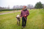 "Alan Sell and one of his favorite reindeer, ""Holly"""