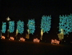 Another light display at the top of the mountain in Ogelbay Park