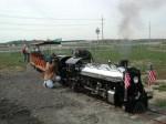 Engineer fires up the boiler on the NWOPRR Locomotive