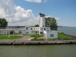 The abandoned Coast Guard Station on Whiskey Island on Cleveland Lakefront
