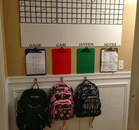 Organizing 3 Children {sports and command center}