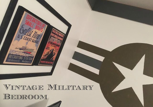 Vintage Military Inspired Boys Bedroom