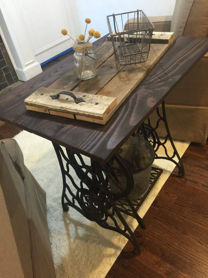 One Thrifty Chick Singer Treadle Table