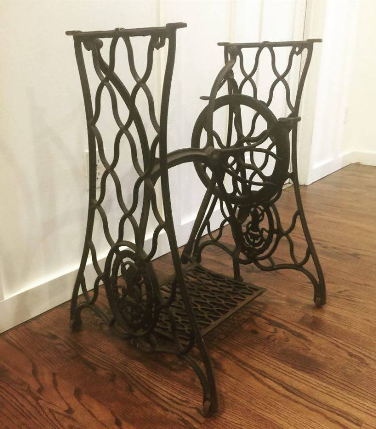 Singer Sewing Machine Treadle Table upcycle