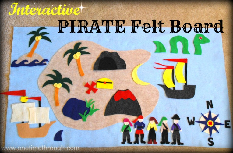 Interactive Felt Pirate Storyboard - One Time Through