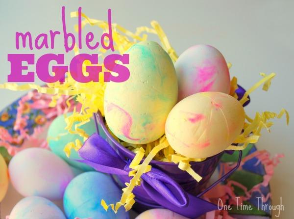 Marbled Foam Eggs Craft