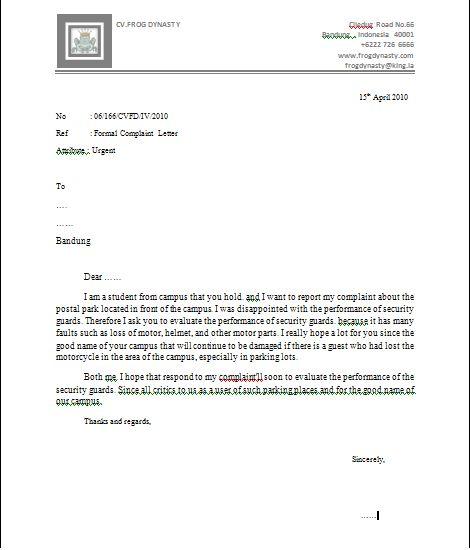 what is a letter of complaint - Alannoscrapleftbehind - Complaint Letters