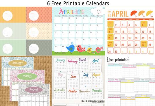 6 Free Printable Monthly Calendar \u2013  One Velvet Morning  - free printable monthly calendar